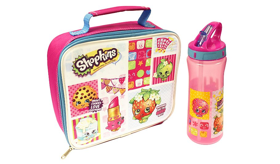 shopkins bottle lunch bag lunch bags bottles. Black Bedroom Furniture Sets. Home Design Ideas