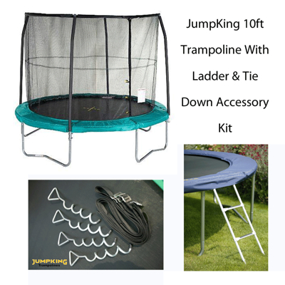 ASDA JumpKing 10ft Trampoline with Ladder and Tie