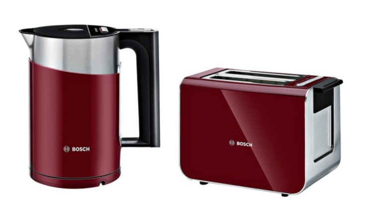 Bosch Styline Kettle & Toaster Range - Cranberry Red