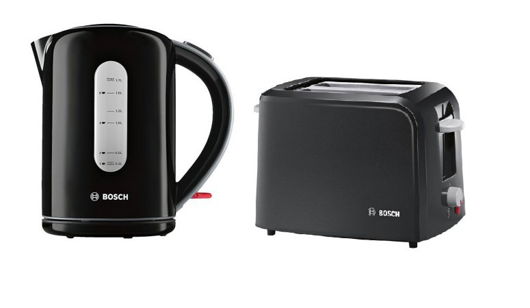 Bosch Village Kettle & Toaster Range - Black