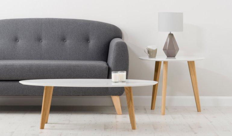 George Home Brooklyn Living & Dining Furniture Range - Oak and White