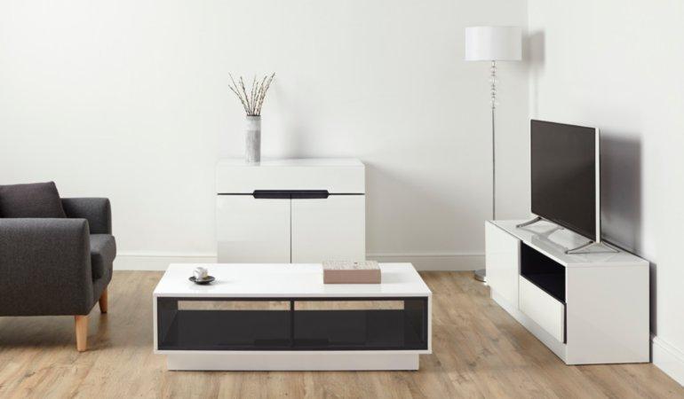 George Home Brooklyn Living Room Furniture Range - White and Grey
