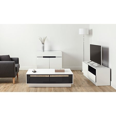 George Home Brooklyn Living Room Furniture Range White And Grey Living Room Furniture