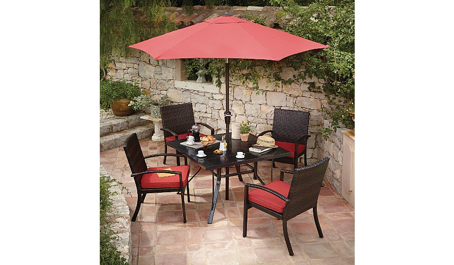 Jakarta classic patio set red garden furniture for Outdoor furniture jakarta