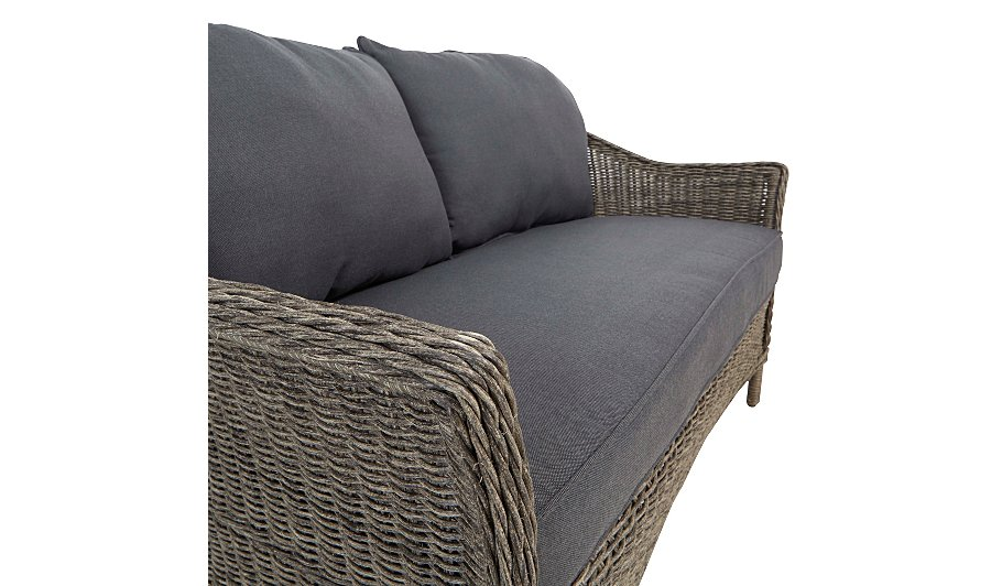 Shore 4 Piece Sofa Set - Brown & Charcoal