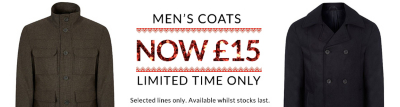 mens coat offers