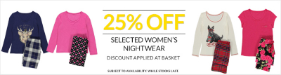 Womens nightwear offers