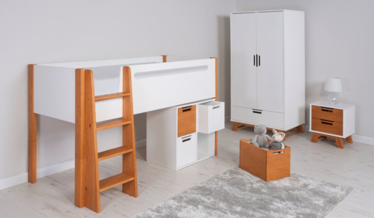 George Home Alfie Kids Furniture Range - Oak Effect and White