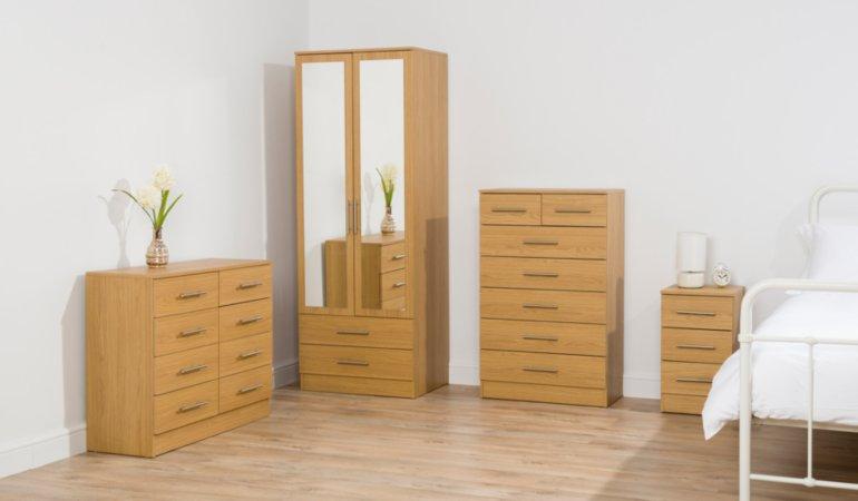 George Home Roselyn Bedroom Furniture Range - Oak Effect