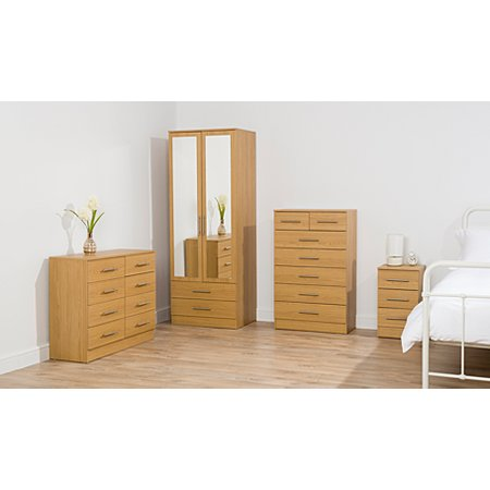 George home roselyn bedroom furniture range oak effect for Bedroom furniture sets george