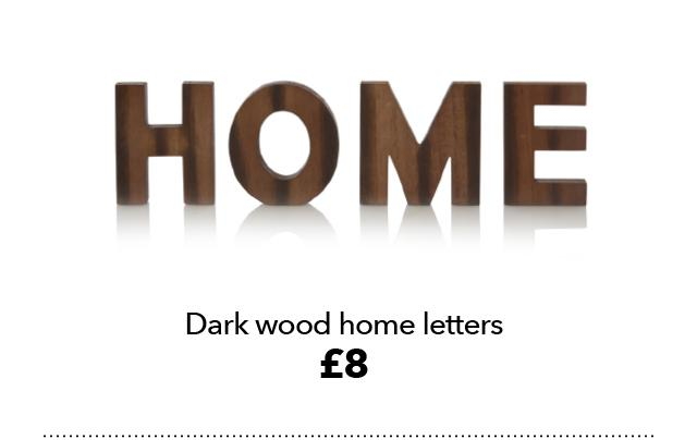 dark wood home letters