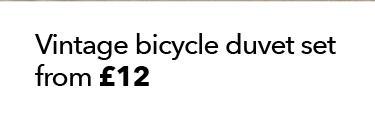 bicycle duvet set
