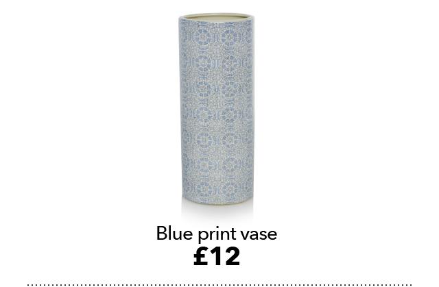 Blue print vase