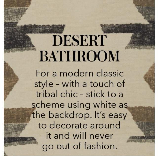 DESERT BATHROOM
