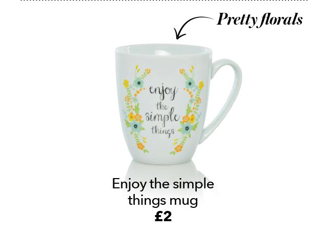 enjoy the simple things mug