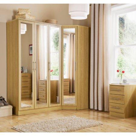 Vienna Bedroom Furniture Range - Oak Effect