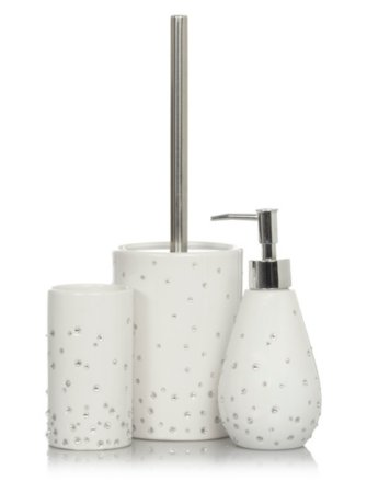 George Home Scattered Diamante Bath Accessories Range