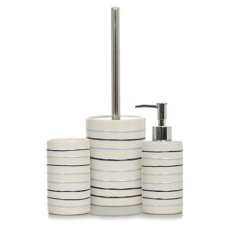 Striped bath accessories range bathroom accessories for Striped bathroom accessories sets