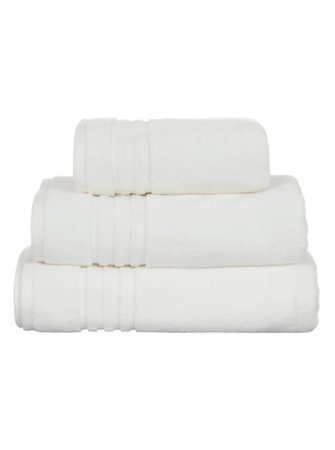 Luxury by George Home 100% Pima Cotton Towel Range - White