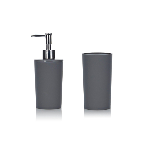 George home accessories soft touch charcoal bathroom for Charcoal bathroom accessories