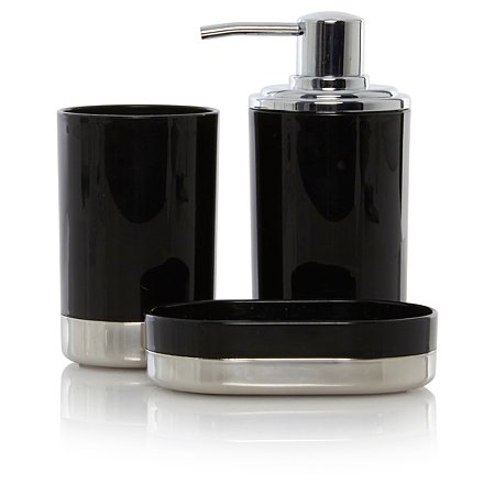 george home black chrome bath accessories range bathroom accessories george at asda