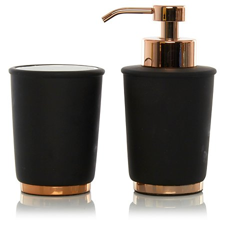 George home black copper bathroom accessories bathroom for Bathroom accessories sale