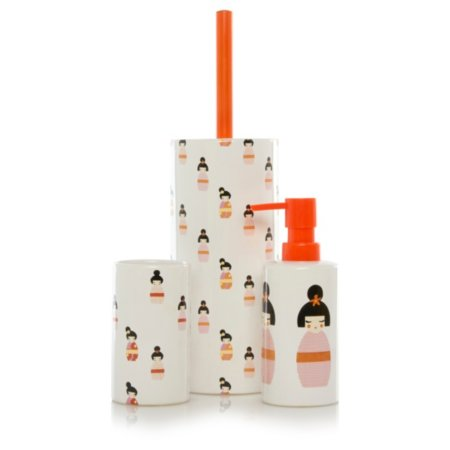 George Home Kokeshi Doll Bathroom Accessories