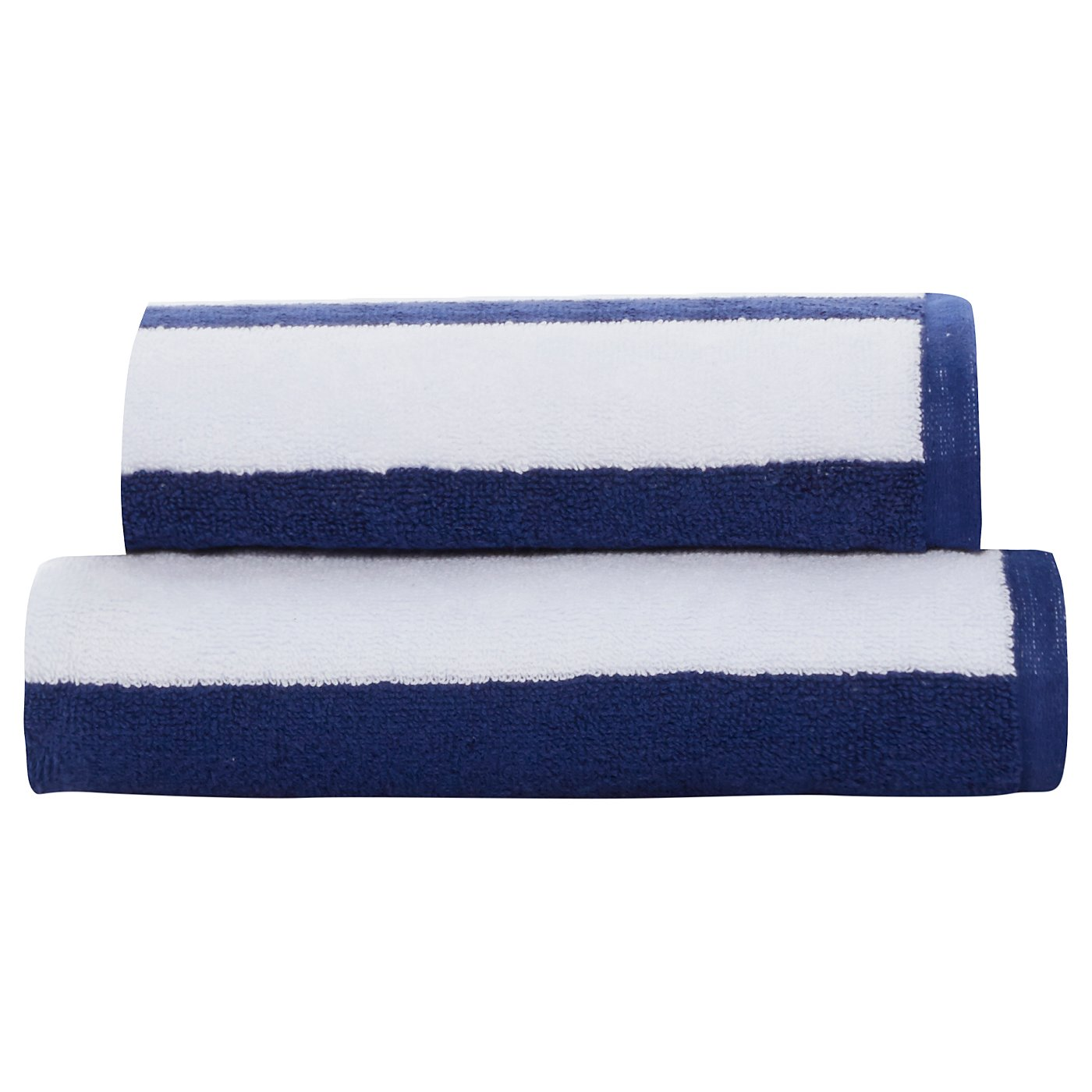 Blue and white bathroom accessories - Electric Blue Bathroom Accessories George Home 100 Cotton Towel Range Blue White Rugby Stripe Loading