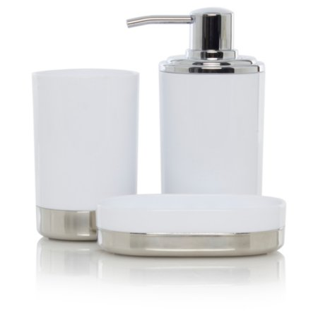 George Home White & Chrome Bath Accessories Range