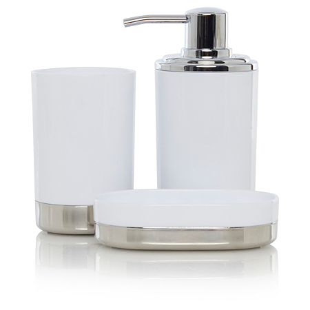 George home white chrome bathroom accessories bathroom for White bath accessories