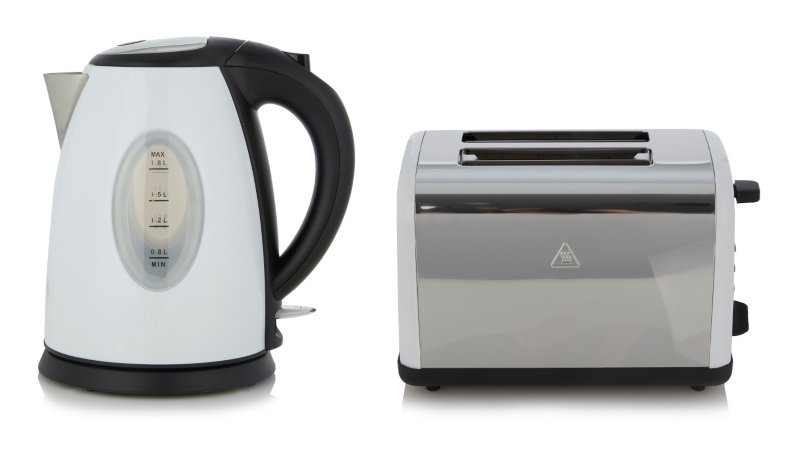 George Home Fast Boil Kettle & Toaster Range - White