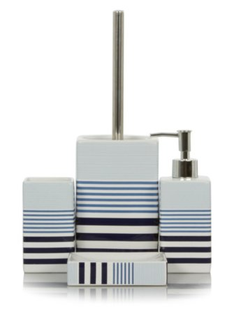 George Home Graduating Stripe Bath Accessories Range