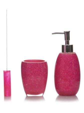 Pink Glitter Bath Accessories Range