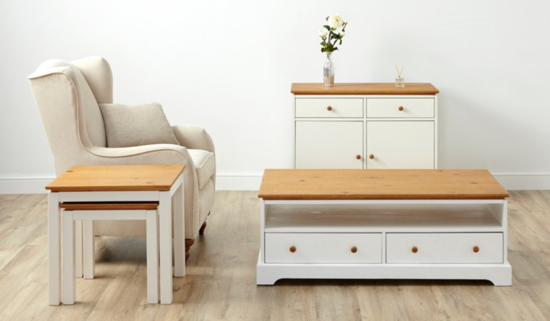 George Home Gilmore Living & Dining Furniture Range - Oak Effect and White