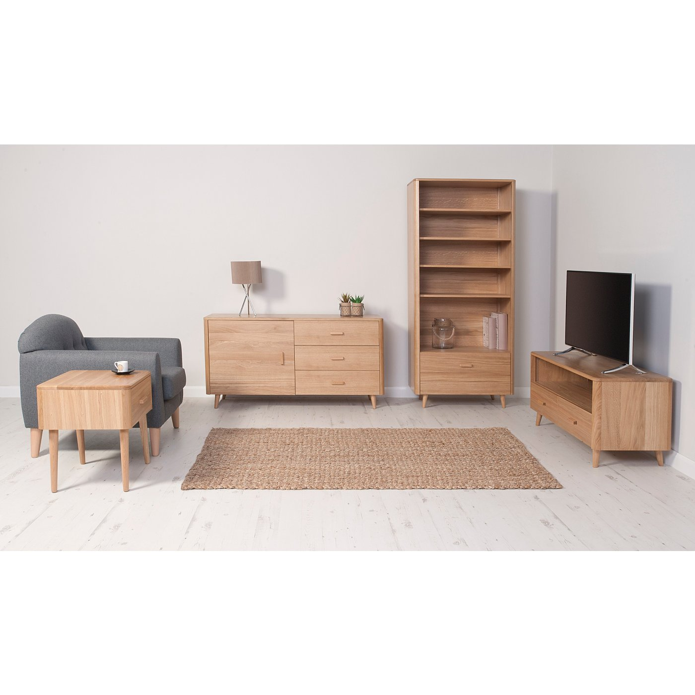 Oak Furniture Living Room George Home Idris Living Room Furniture Range Oak And Oak Veneer
