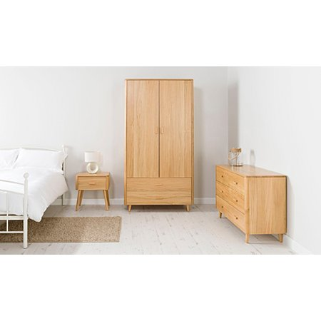 George Home Idris Bedroom Furniture Range   Oak and Oak Veneer. George Home Idris Bedroom Furniture Range   Oak and Oak Veneer