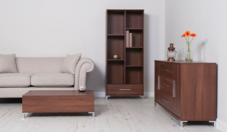 George Home Kaitlin Living Room Furniture Range - Walnut Effect