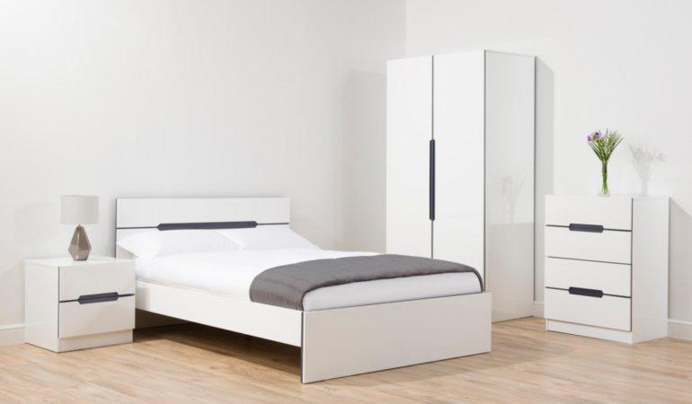 George Home Brooklyn Bedroom Furniture Range - White and Grey