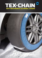 Tex-Chain Anti-Skid Snow and Ice Wheel Covers- 2 pack