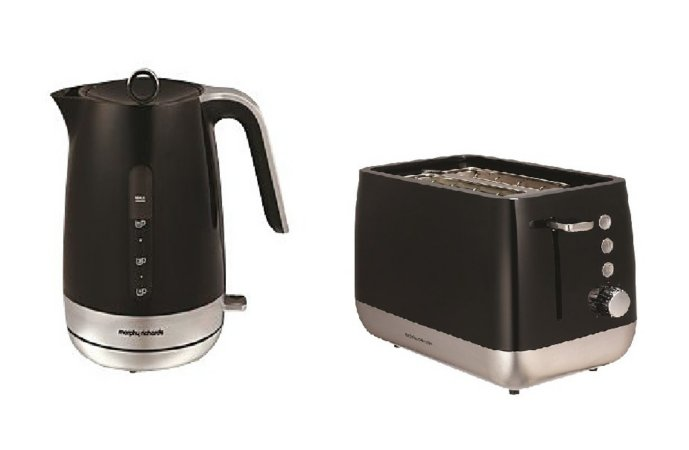 Morphy Richards Kettle & Toaster Range - Black & Silver