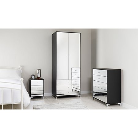 George Home Shona Bedroom Furniture Range Black Oak Effect And Mirror Bedroom Ranges