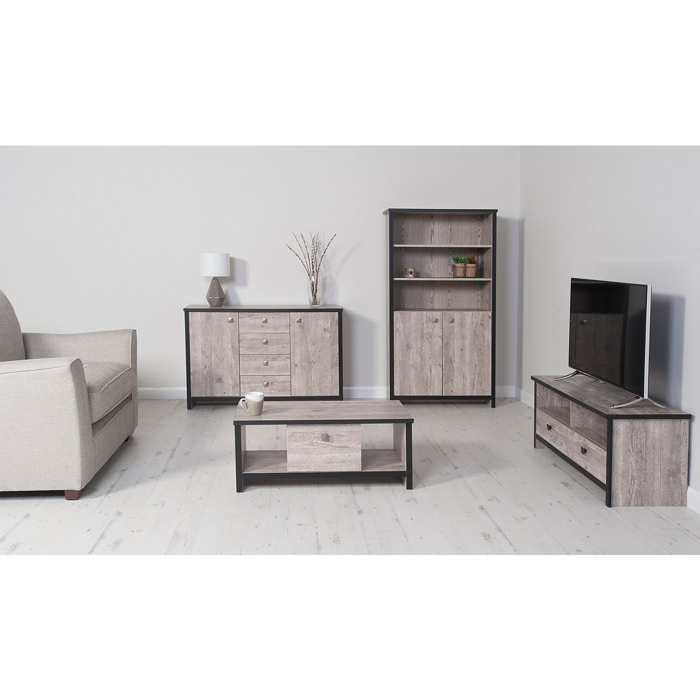The Range Living Room Furniture George Home Declan Living Room Furniture Range Distressed Pine