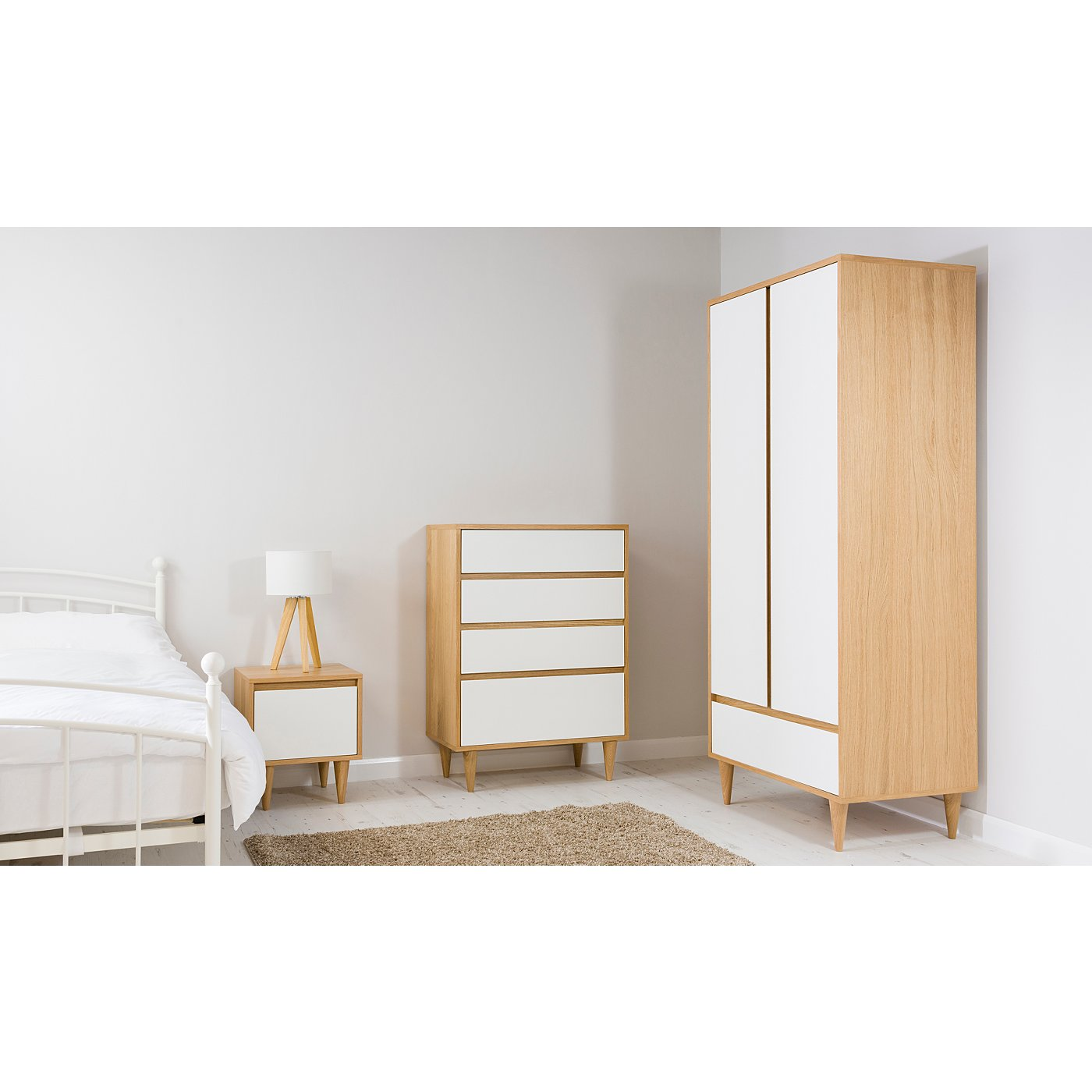 Solid White Bedroom Furniture White And Oak Effect Bedroom Furniture Best Bedroom Ideas 2017
