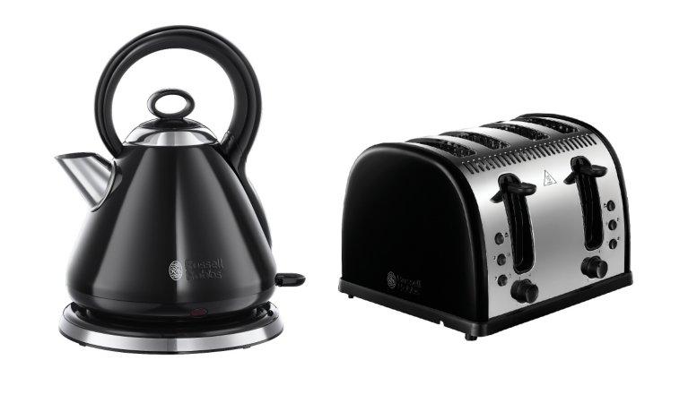Russell Hobbs Legacy Kettle Toaster Range - Black