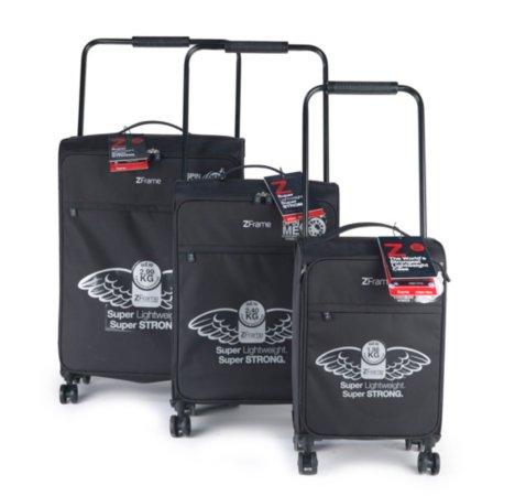 Z Frame Double Wheel Black Suitcase Range