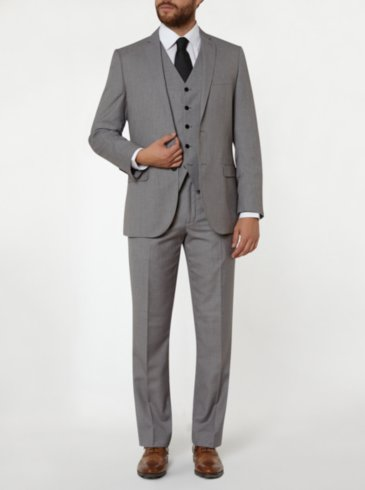 Tailor & Cutter Regular Fit Suit - Grey
