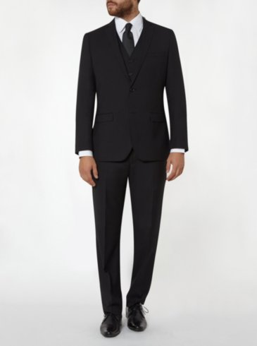 Tailor & Cutter Regular Fit Suit - Black
