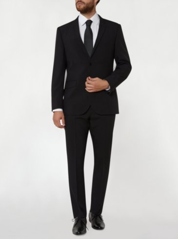 Tailor & Cutter Slim Fit Suit - Black