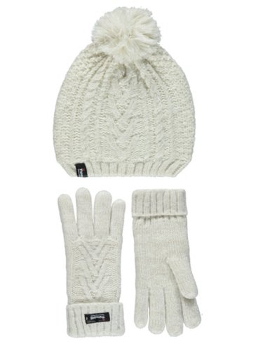 Thinsulate Knitted Bobble Hat & Gloves