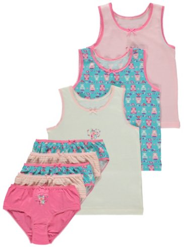 Owl Print Brief & Vest Set